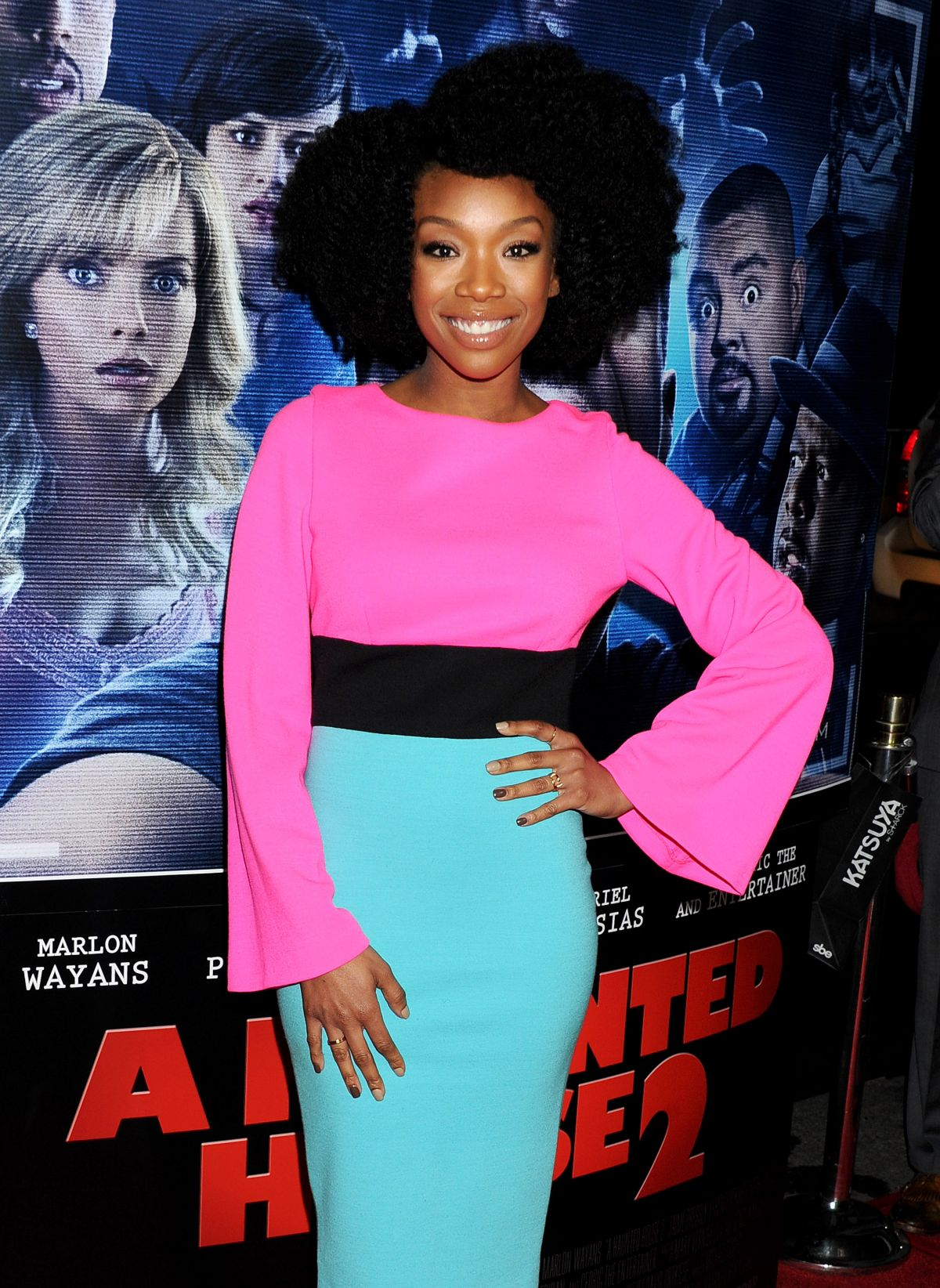 BRANDY at A Haunted House 2 Premiere in Los Angeles