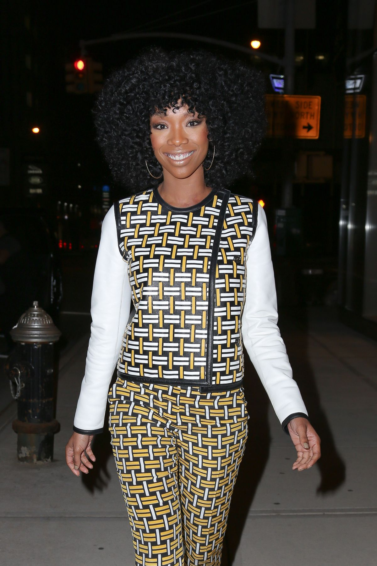 BRANDY NOORWOOD Out and About in New York