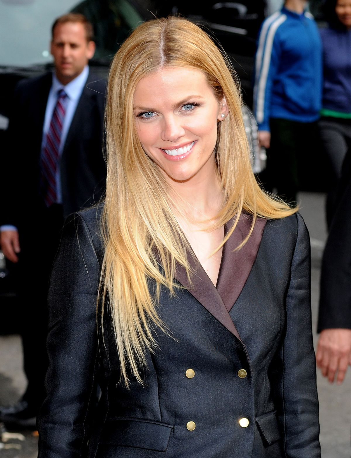 BROOKLYN DECKER Arrives at Late Show with David Letterman in New York