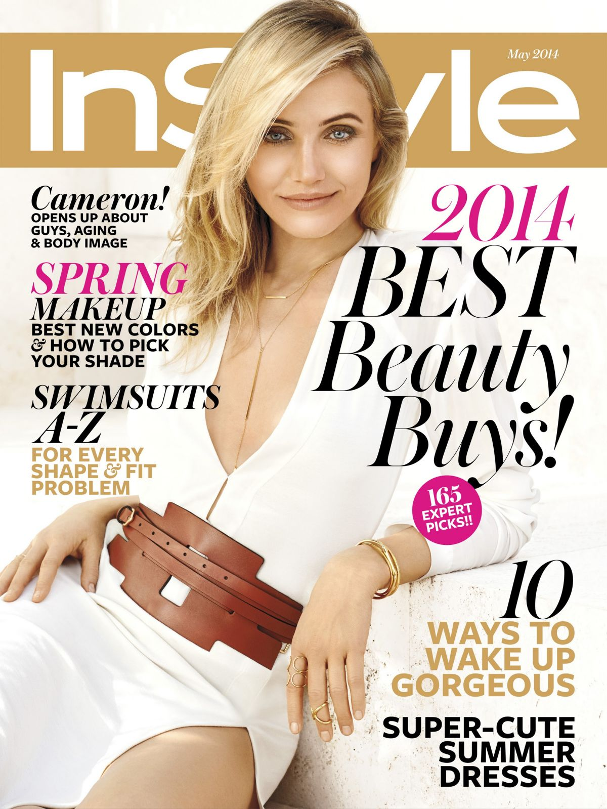 Instyle Magazine Us: CAMERON DIAZ In Instyle Magazine, May 2014 Issue
