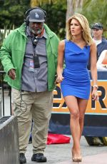 CHARISSA THOMPSON on the Set of Extra in Los Angeles