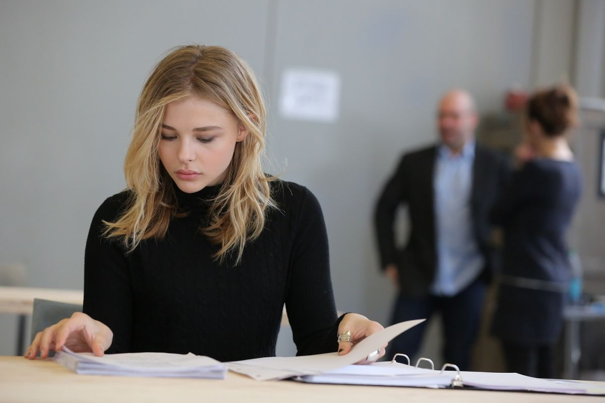 CHLOE GRACE MORETZ Rehearsals for the Library