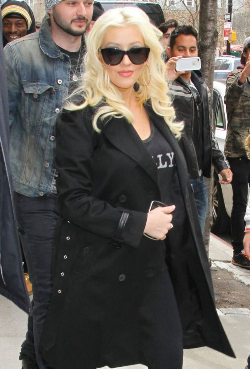 CHRISTINA AGUILERA Arrives at Her Hotel in New York