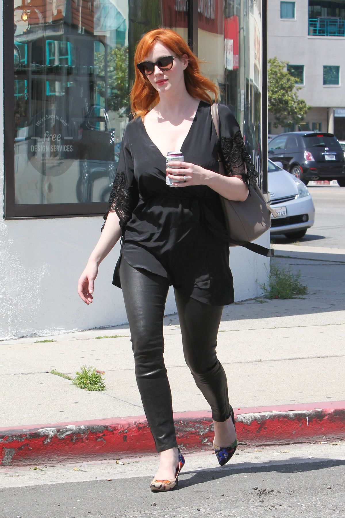 CHRISTINA HENDRICKS Out Shopping in Los Angeles