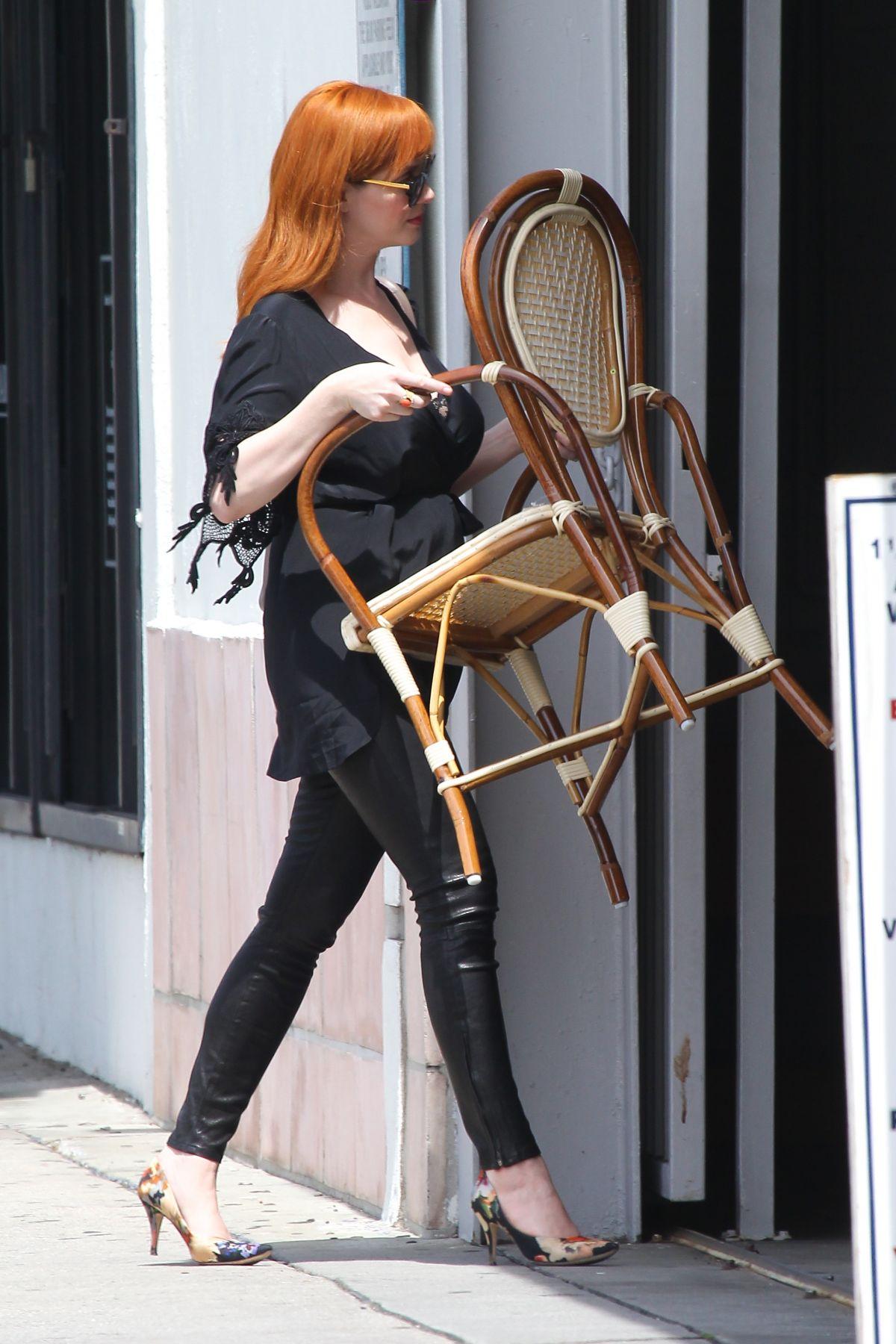 Christina Hendricks Out Shopping In LA - Celebzz - Celebzz