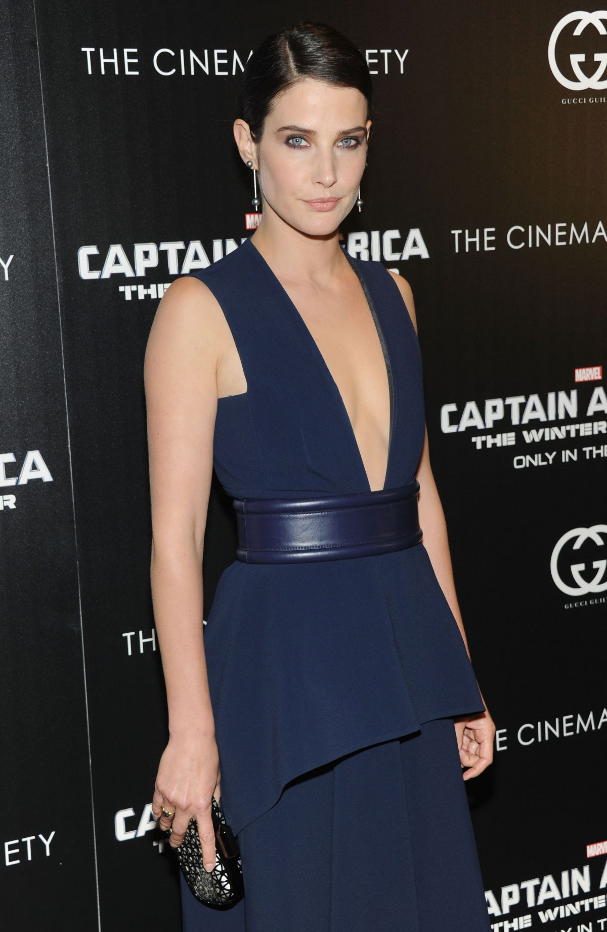 COBIE SMUDLERS at Captain America: the Winter Soldier Screening in New York