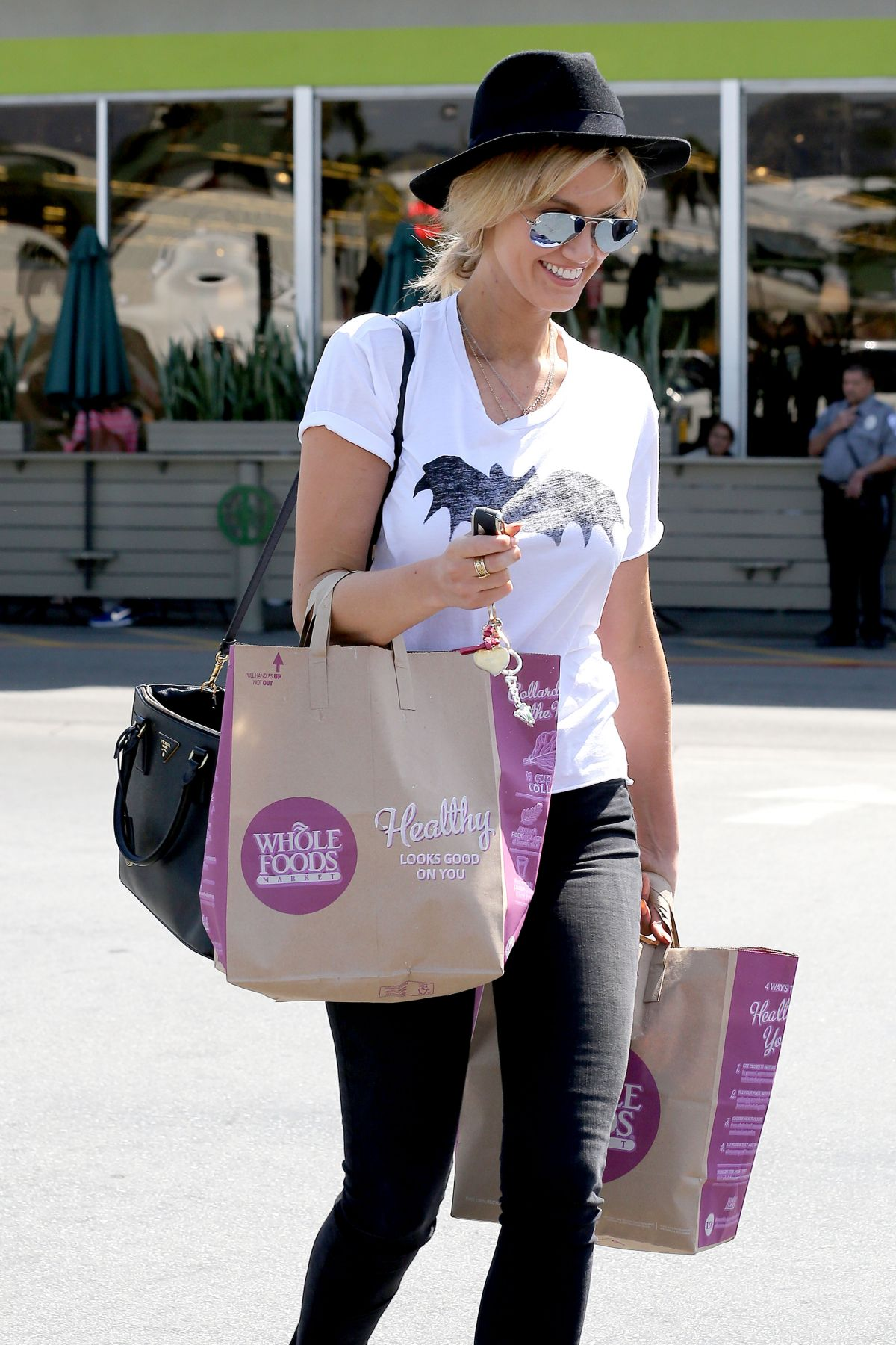 DELTA GODREM Shoping at Whole Foods in Los Angeles