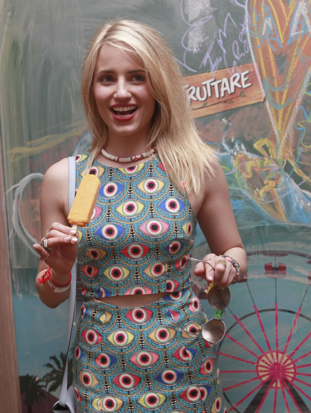 DIANNA AGRON at Fruttare Hangout at Coachella