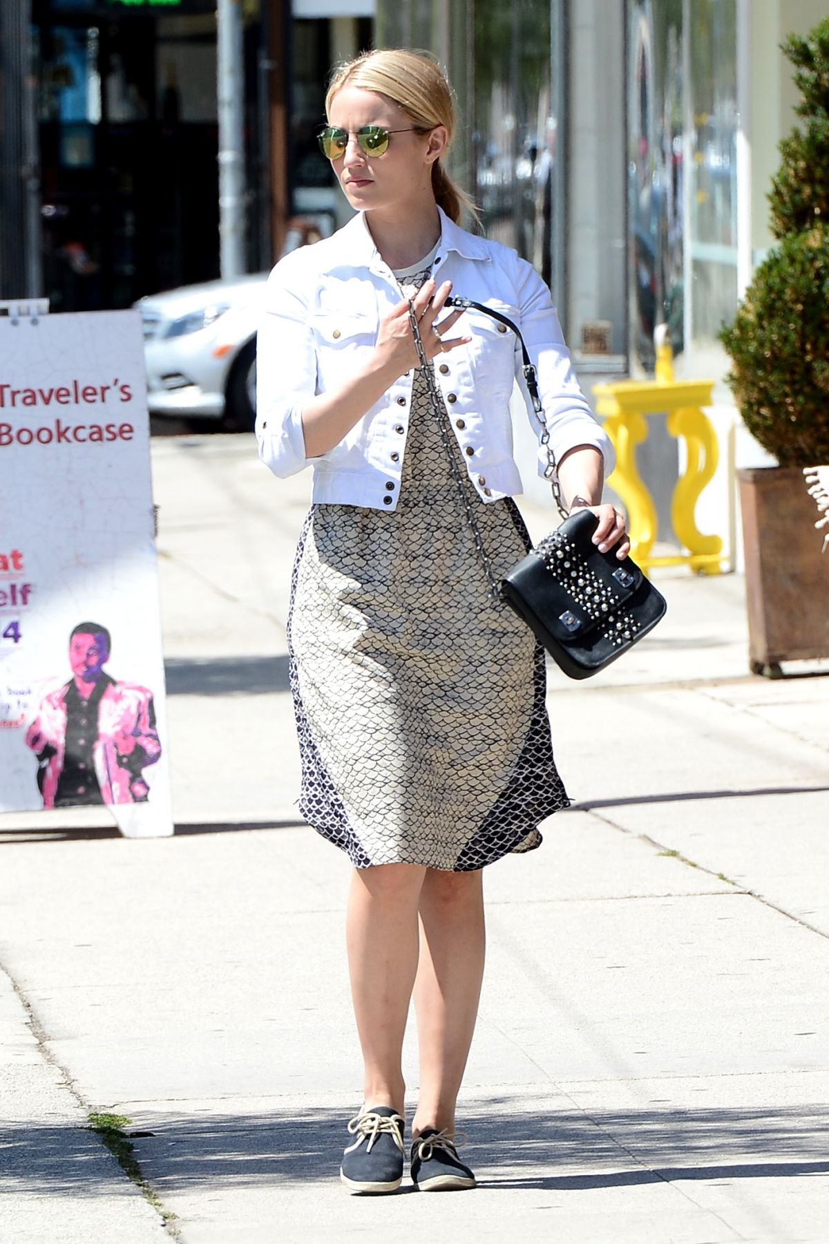 DIANNA AGRON Out and About in West Hollywood