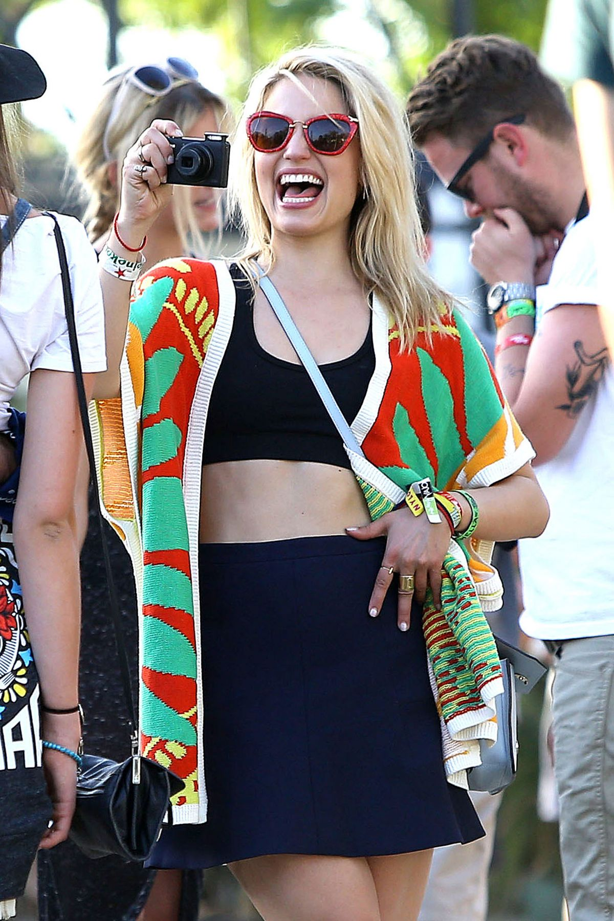 DIANNA AGRON Out and Sbout at Coachella Festival