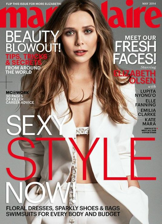 ELIZABETH OLSEN in Marie Claire Magazine, May 2014 Issue