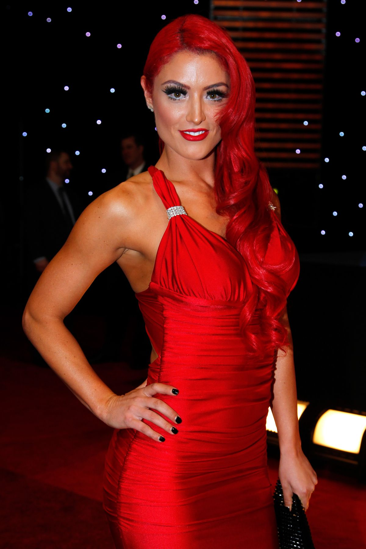 EVA MARIE at WWE Hall of Fame Induction Ceremony