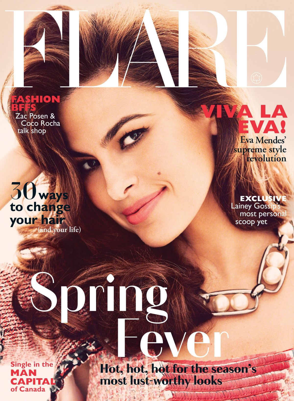 EVA MENDES in Flare Magazine, May 2014 Issue