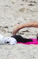 FEDERICA TORTI in Bikini Doing Yoga on a Beach in Miami