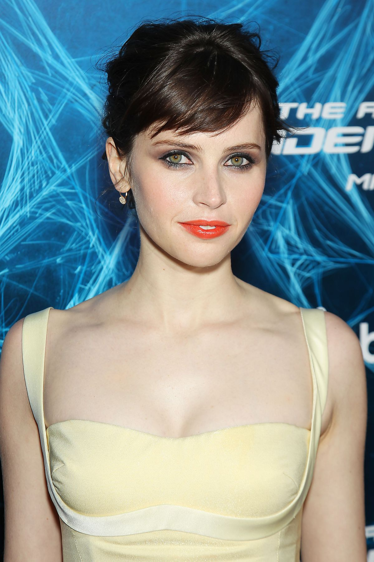 FELICITY JONES at The Amazing Spider-man 2 Premiere in New ...