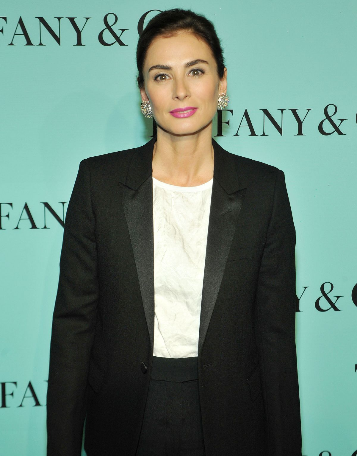 FRANCESCA AMFITHEATROF at Tiffany Debut of 2014 Blue Book in New York