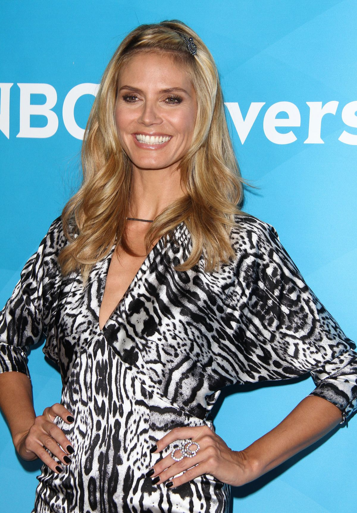 HEIDI KLUM at NBC Universal Summer Press Day