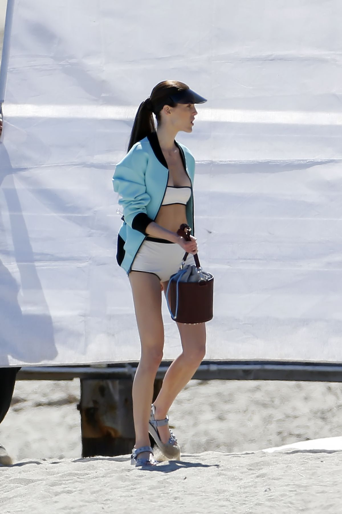 HILARY RODA at Photoshoot for Vogue on the Beach in Malibu