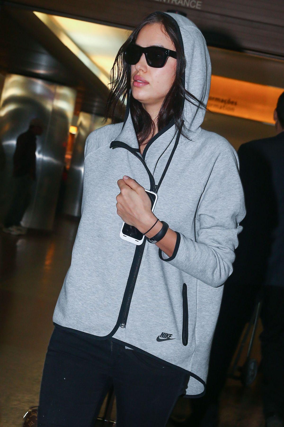 IRINA SHAYK at Sao Paulo International Airport