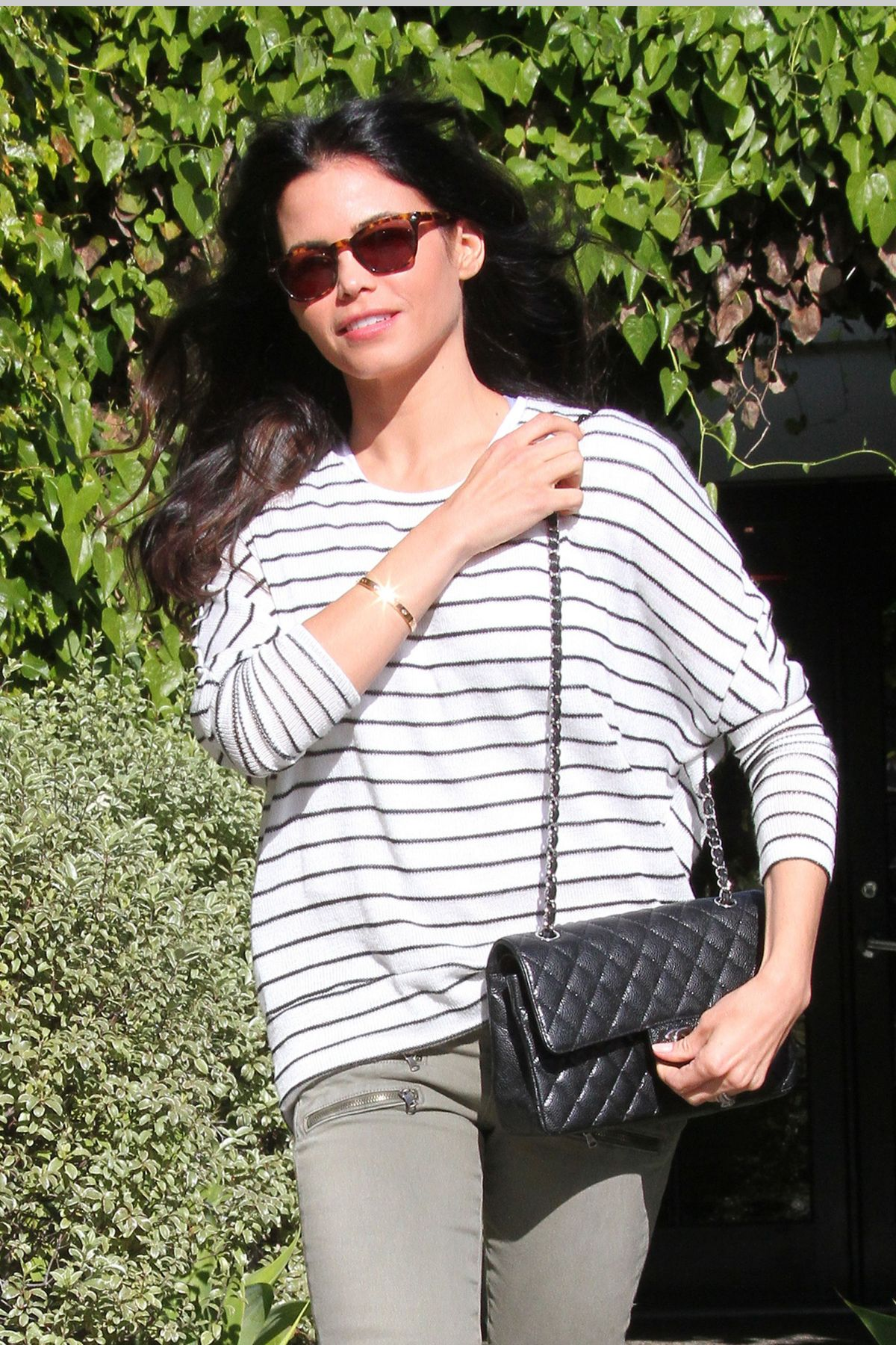JENNA DEWAN Leaves Andy Lecompte Salon in West Hollywood