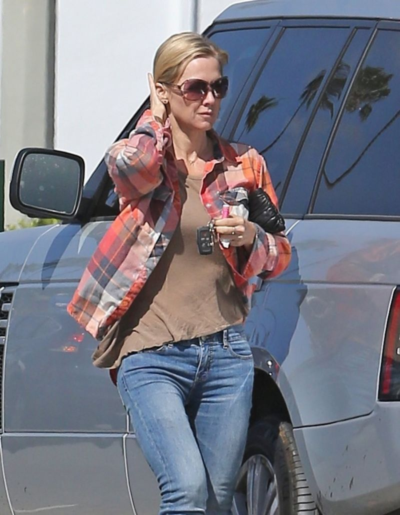 JENNIE GARTH in Jeans Out in Studio City