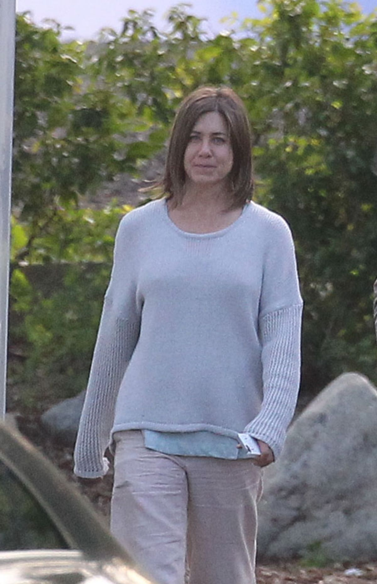 JENNIFER ANISTON on the Set of Cake Movie in Los Angeles