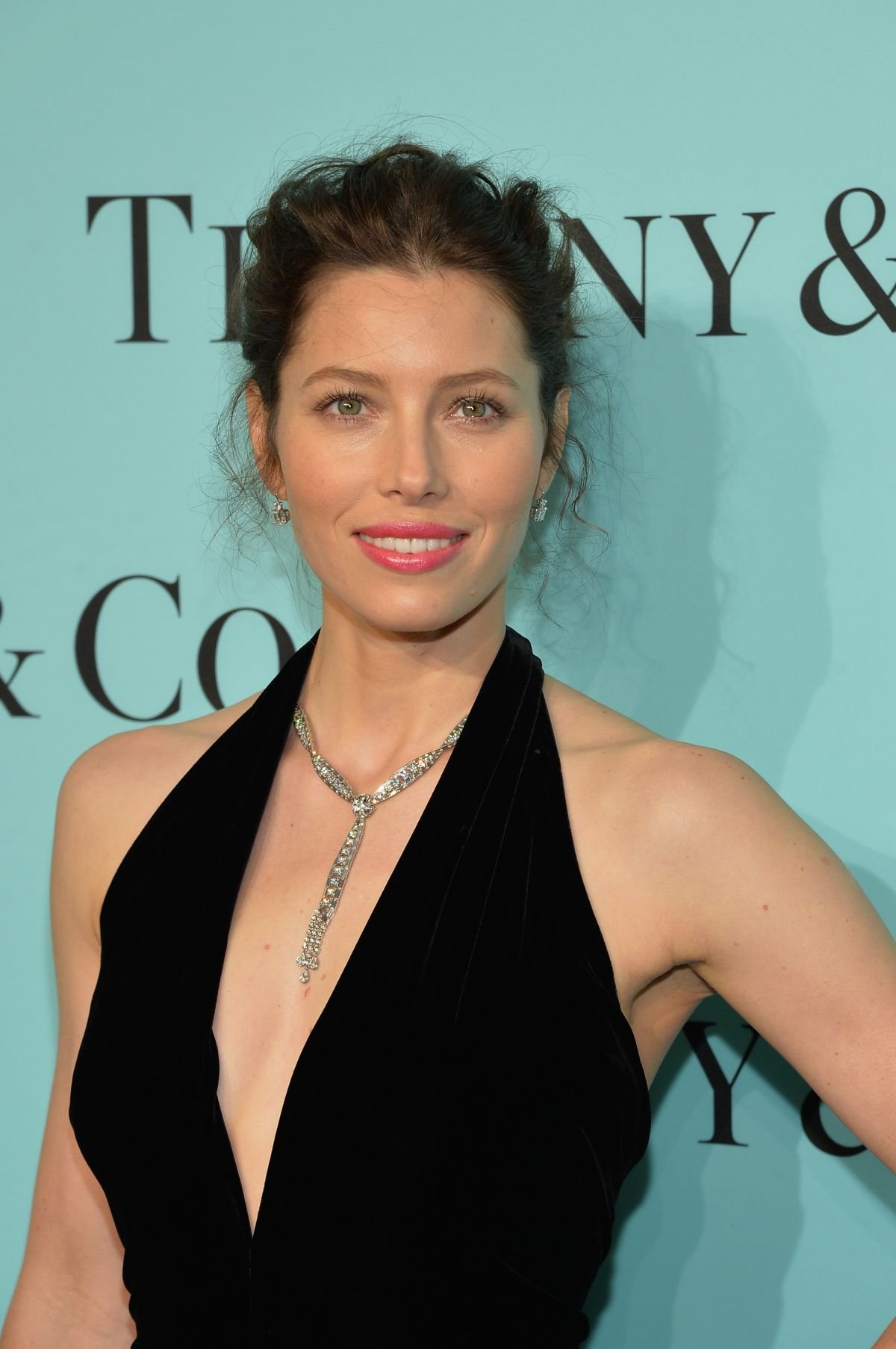 JESSICA BIEL at Tiffany Debut of 2014 Blue Book in New York