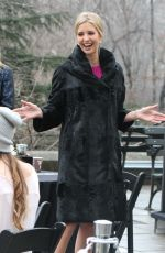 and IVANKA TRUM on the Set of Celebrity Apprentice in Central Park