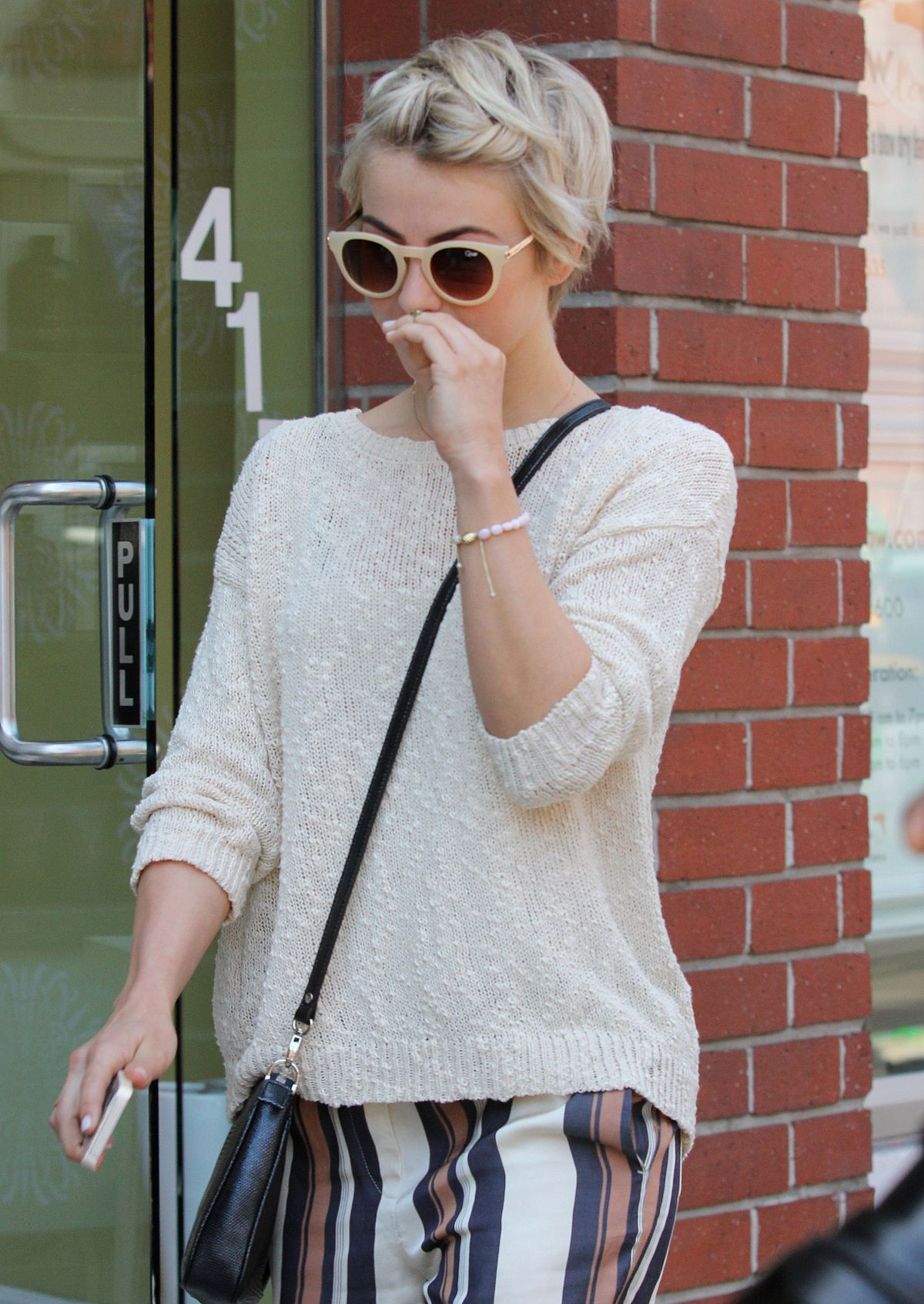 JULIANNE HOUGH at a Nail Salon in Beverly Hills
