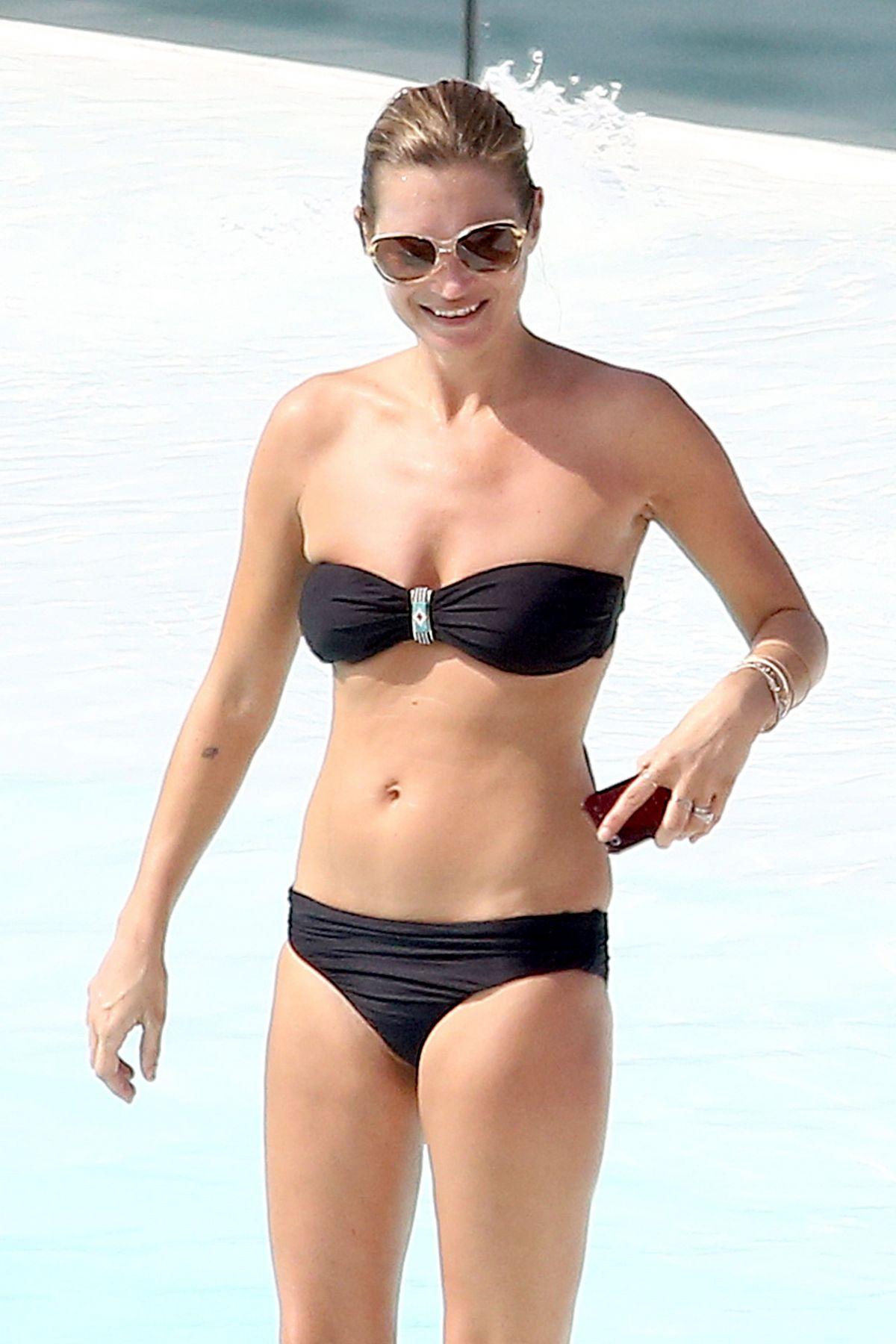 KATE MOSS in Bikini at Pool in Hotel in Rio De Janiero