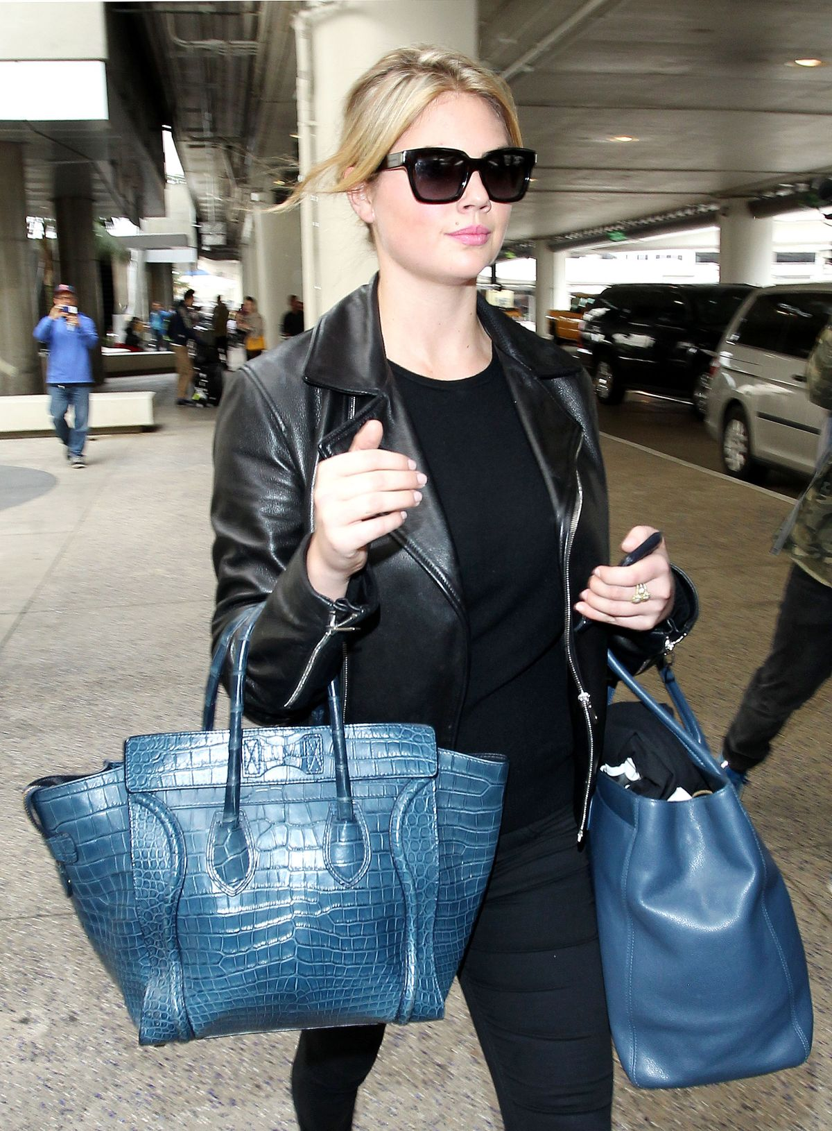 KATE UPTON Arrives at Los Angeles International Airport