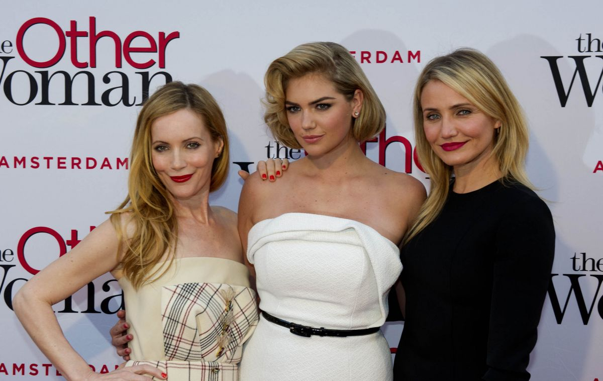 KATE UPTON, CAMERON DIAZ and LESLIE MANN at The Other Woman Premiere in Amsterdam