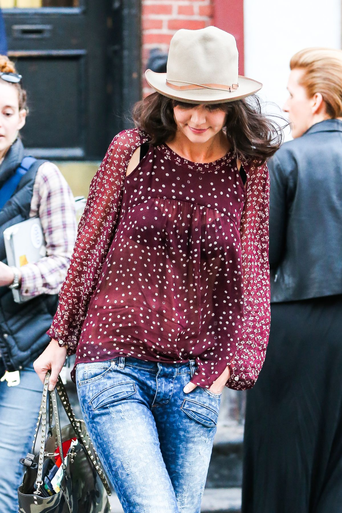 KATIE HOLMES at Dangerous Liaisons Set in New York