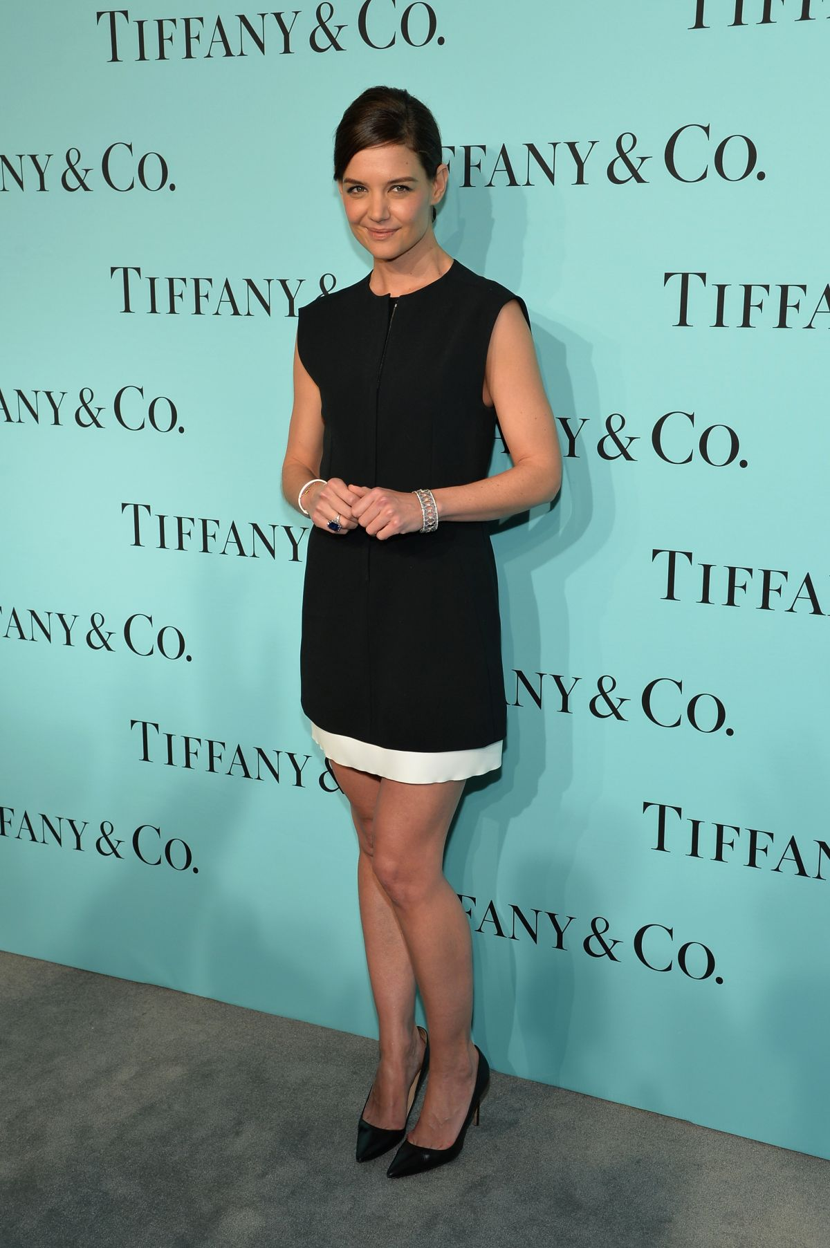 KATIE HOLMES at Tiffany Debut of 2014 Blue Book in New York
