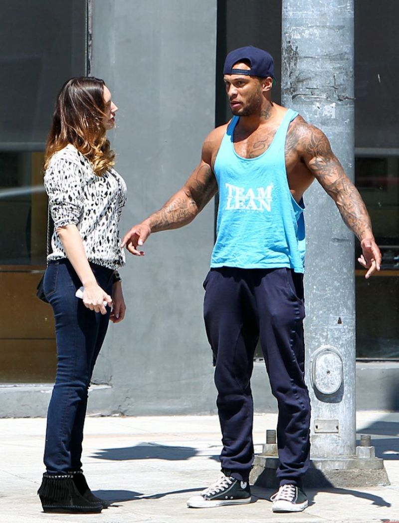 KELLY BROOK and David McIntosh Out and About in Los Angeles