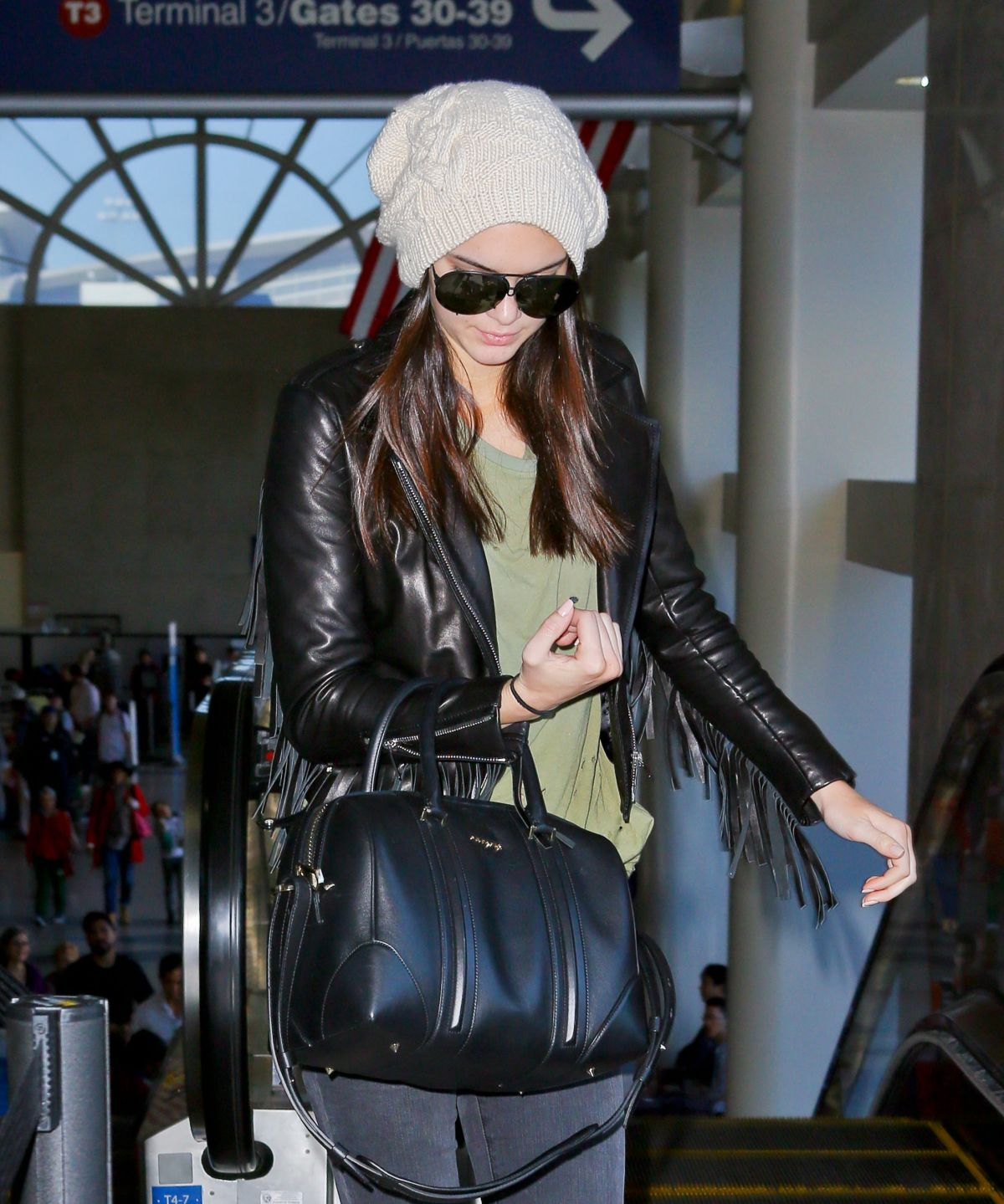 KENDALL JENNER at LAX Airport in Los Ageles 2404