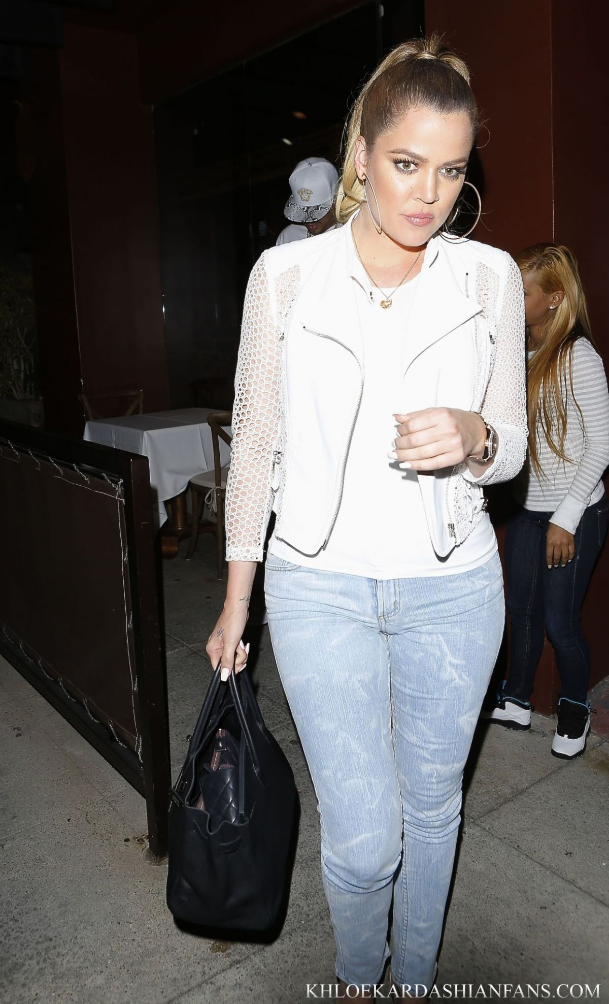 KHLOE KARDASHIAN Leaves Crustacean in Beverly Hills