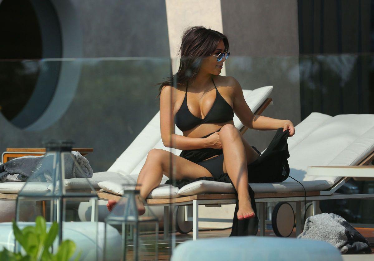KIM KARDASHIAN in Bikini Filming Her Show in Thailand