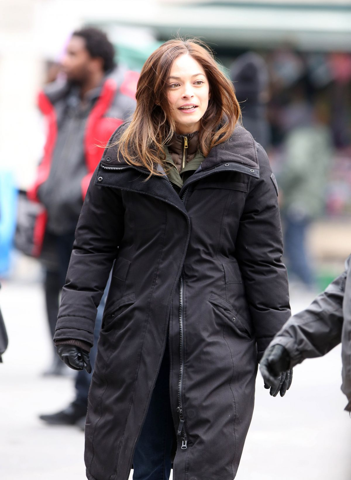 KRISTIN KREUK on the Set of Beaty and the Beast in Toronto