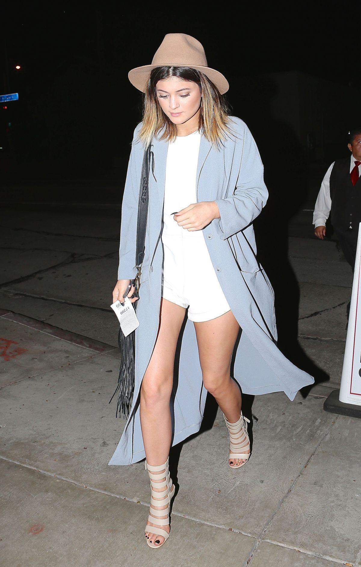 KYLIE JENNER Arrives to Cecconi