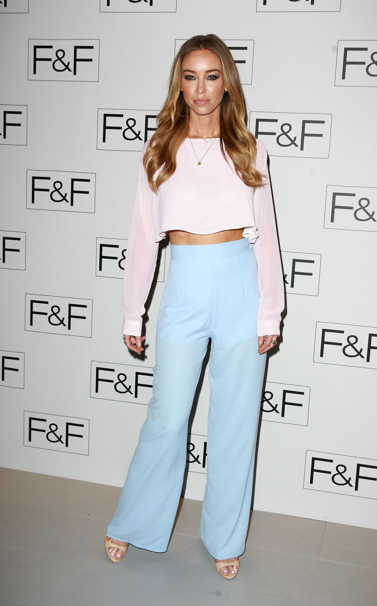 LAUREN POPE at F&F 2014 Fashion Show in London