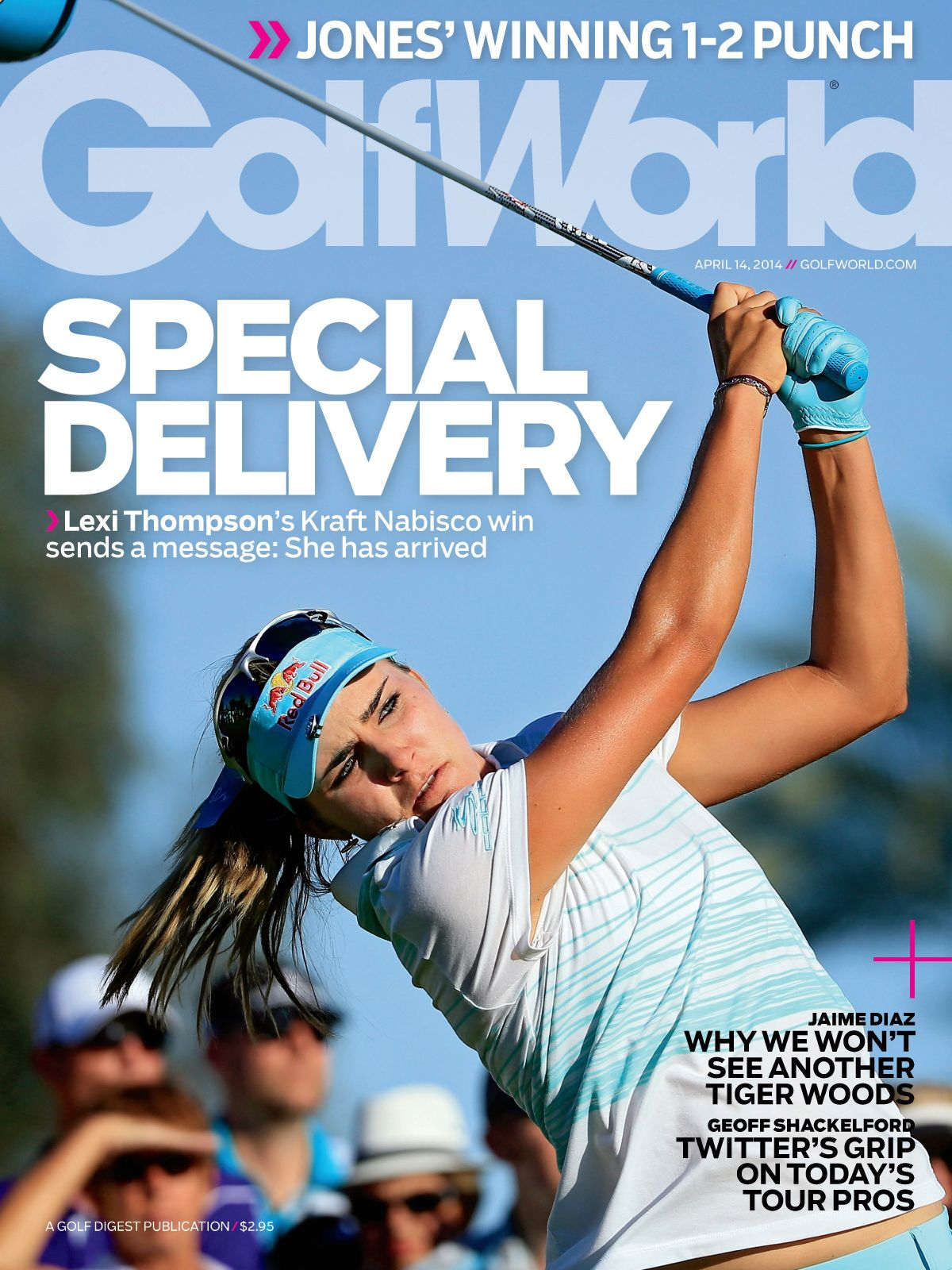 LEXI THOMPSON in Golf World, April 14th 2014 Issue