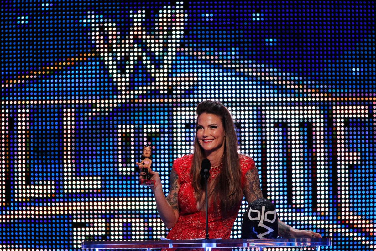 LITA (AMY DUMAS) at WWE Hall of Fame Induction Ceremony