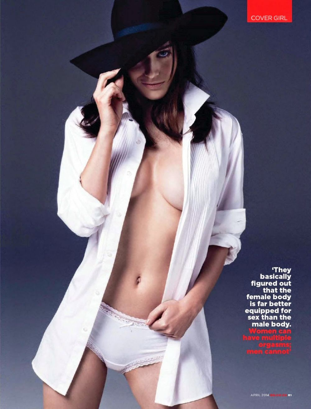 LIZZY CAPLAN in GQ Magazine, South Africa April 2014 Issue