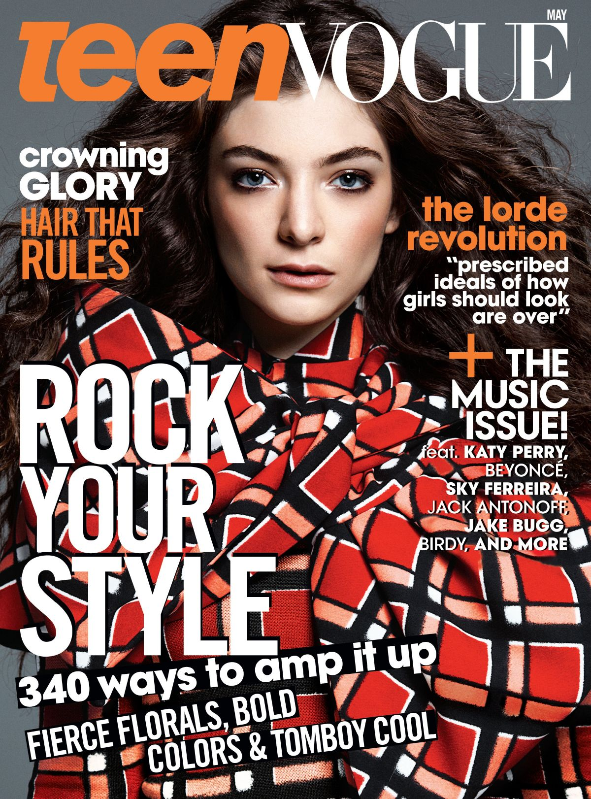 Teen Vogue Magazine Us March 2015 Cover: LORDE In Teen Vogue Magazine, May 2014 Issue