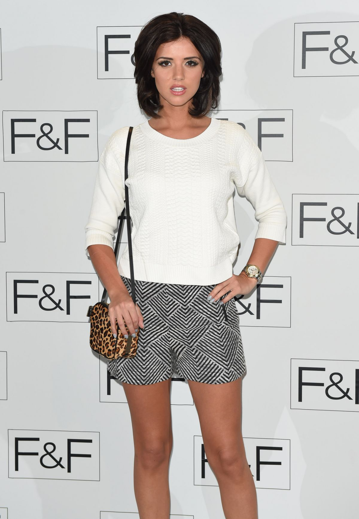 LUCY MECKLENBURGH at F&F 2014 Fashion Show in London