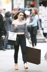 MAISIE WILLIAMS and SOPHIE TURNER Out Shopping in Paris