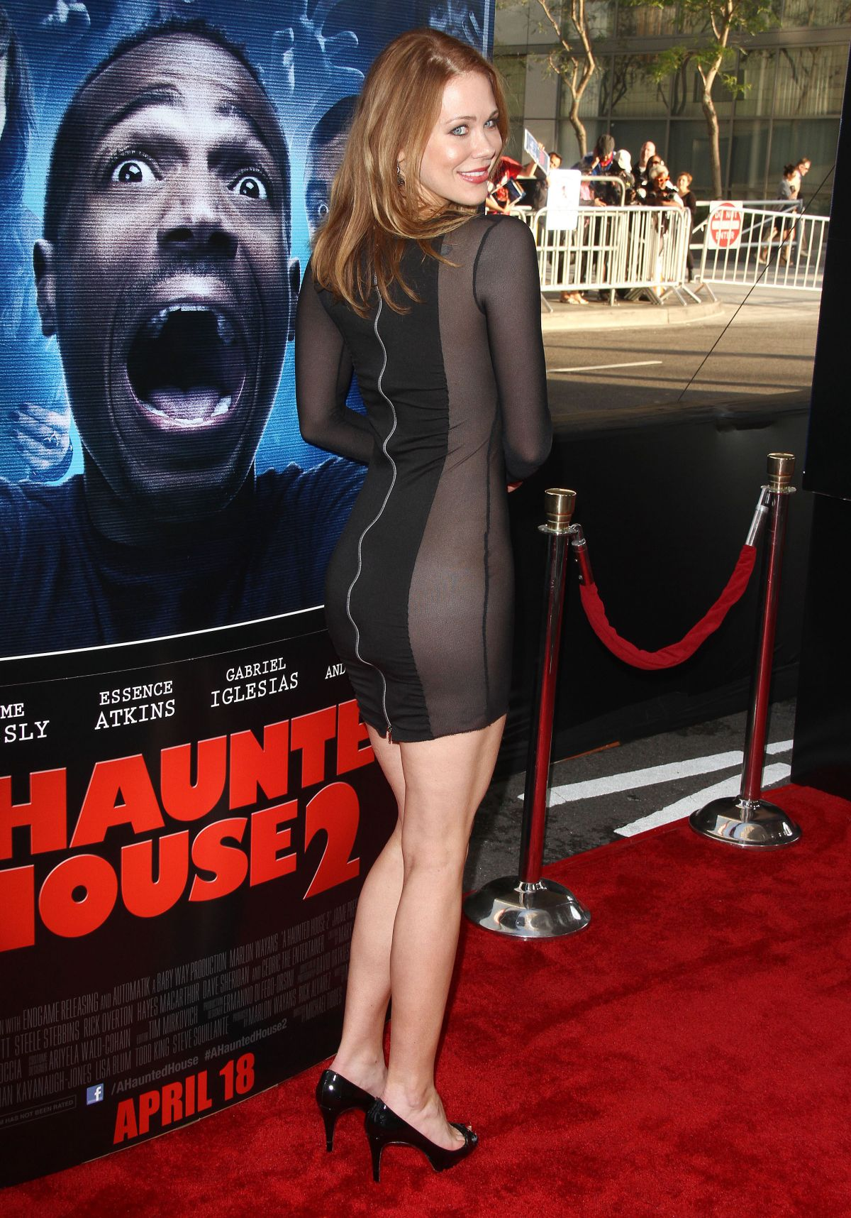 MAITLAND WARD At A Haunted House 2 Premiere In Los Angeles