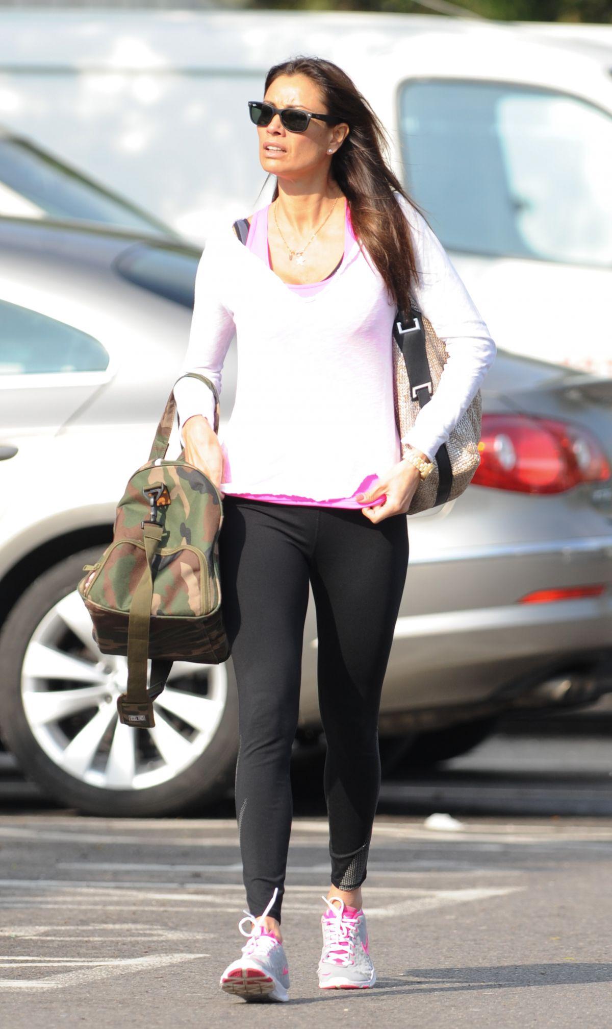 Melanie Sykes Heading To A Gym In London Hawtcelebs