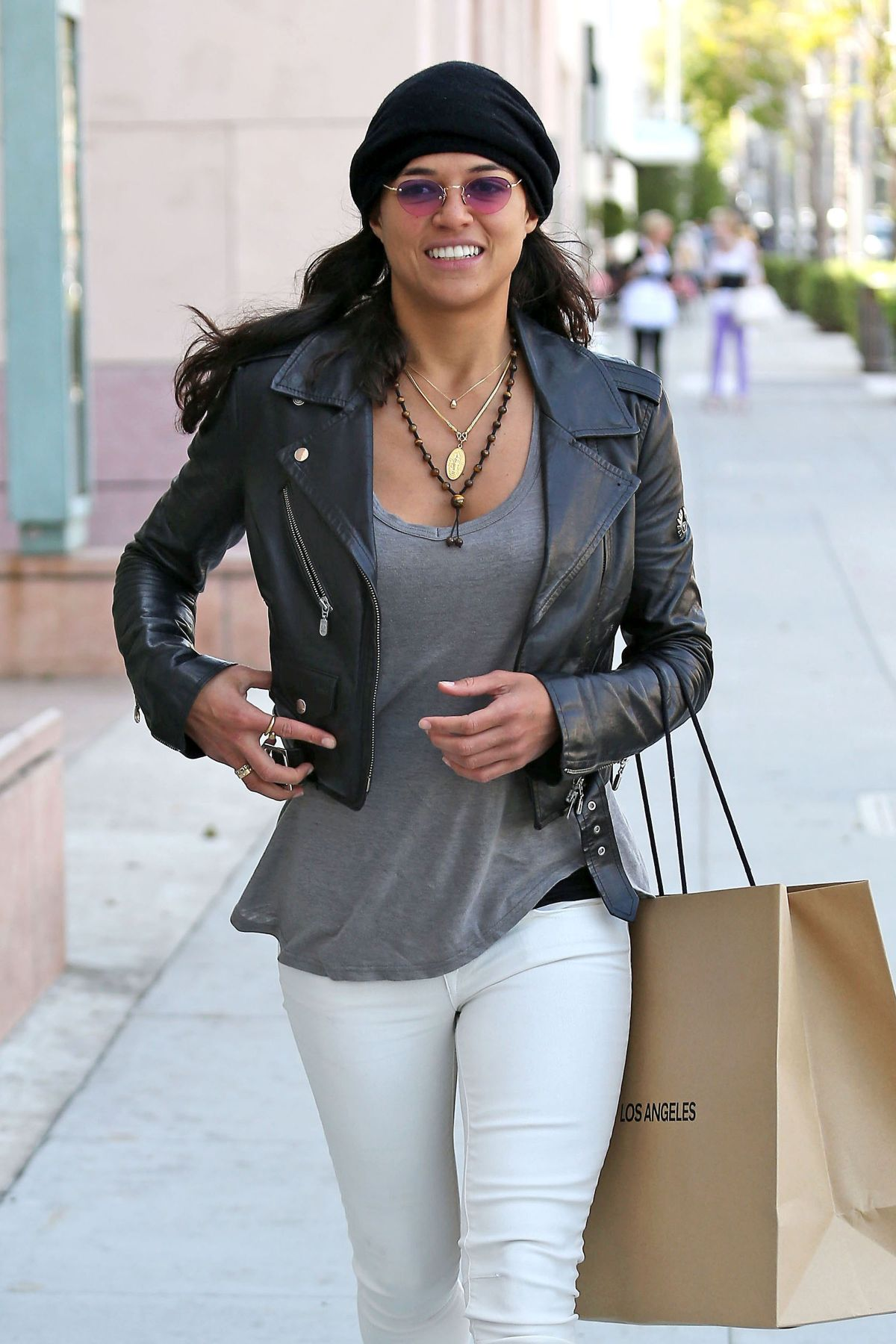 MICHELLE RODRIGUEZ Out Shopping in Los Angeles